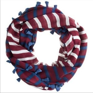 J crew striped silk infinity scarf